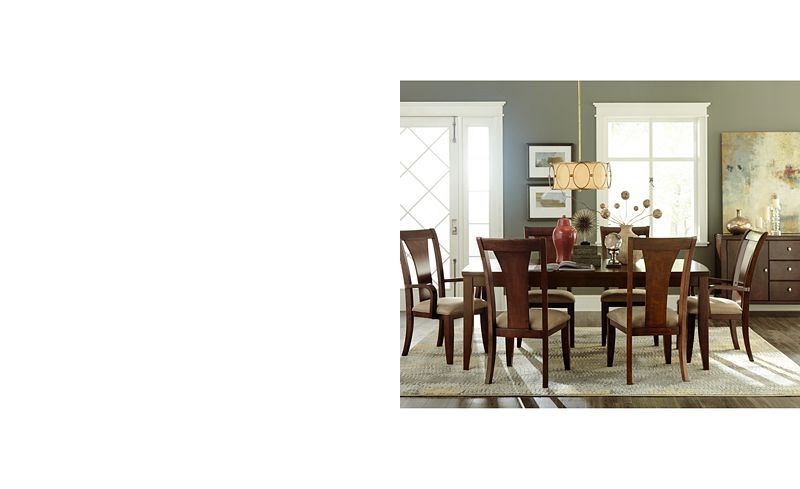 metropolitan contemporary 7 piece dining set dining table 4 side chairs 2 arm chairs only at macys furniture macys - Kitchen Table Sizes